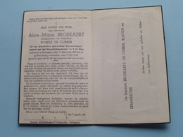DP Alice BROEKAERT ( Robert De CUBBER ) Sottegem 17 Feb 1889 - 7 Juli 1946 ( Zie Foto's ) ! - Obituary Notices