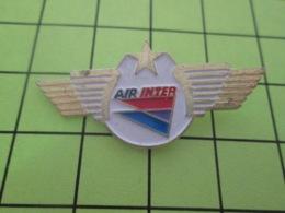 710F PIN's PINS / Rare Et De Belle Qualité / THEME AVIONS / COMPAGNIE AERIENNE AIR INTER - Avions