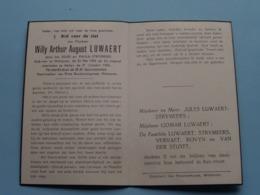 DP Willy LUWAERT ( Zoon Van Strymeers ) Wetteren 30 Mei 1931 - Aalter 31 Oct 1952 ( Zie Foto's ) ONGEVAL ! - Obituary Notices