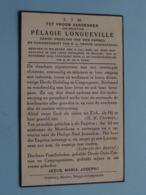 DP Pélagie LONGUEVILLE () Maldegem 15 Juli 1868 - Brugge 19 Nov 1940 ( Zie Foto's ) ! - Overlijden