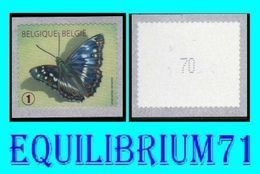 "R117** (Vert Pointu / Groen) - Num / Genum - Papillon / Vlinder - ""Petit Mars Changeant"" - BELGIQUE - Coil Stamps"