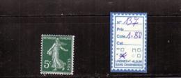 FRANCE A CHARNIERE * 137 - 1906-38 Semeuse Con Cameo
