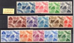 Serie  Nº 234/47 Costa De Somalis - Costa Francesa De Somalia (1894-1967)