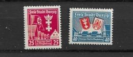 1937 MH Danzig Michel 274-5 - Danzig