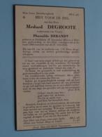 DP Medard DEGROOTE ( Pharailde DEBANDT ) Ettelghem 12 Nov 1853 - Wulpen 4 Jan 1944 ( Zie Foto's ) Geplooid ! - Obituary Notices