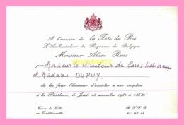 Carton D Invitation  De L Ambassadeur Du Royaume De Belgique  1984 (SENEGAL) - Anuncios