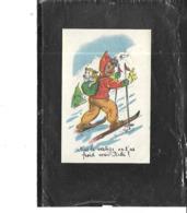 Théme-Illustrateur .*Germaine BOURET-IMAGE PUBLICITAIRE -Enfant Et Son CHIEN KIKI Faisant Du SKI - Bouret, Germaine