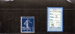 FRANCE A CHARNIÈRE * 140a - 1906-38 Semeuse Con Cameo