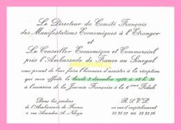 Carton D Invitation  Du Directeur Du Comite Francais Des Manifestations Economiques à L Etranger 1984 (SENEGAL) - Anuncios