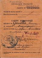 1917 - CARTE D'IDENTITÉ FRANÇAISE Pour Une Personne Monégasque Jeanne GAZIELLO - Documents Historiques