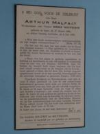 DP Arthur MALFAIT ( Maria MATTELEIN ) Ieper 27 Maart 1886 - 6 Juli 1955 ( Zie Foto's ) ! - Obituary Notices