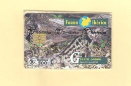 "CHIPCARD SPAIN SERIE FAUNA IBÉRICA ""GINETA COMÚN"" P330 - MINT/SEALED - Emissions Privées"