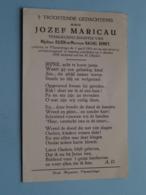 DP Jozef MARICAU ( Zoon V/ DEMEY ) Vlamertinge 1 April 1951 - 1 Okt 1959 ( Zie Foto's ) VERKEERSONGEVAL ! - Obituary Notices