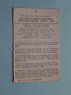 DP Z.H.E. Monseigneur JORIS SIX ( O.a. Scheut / Kongo ..) Vlamertinge 20 Okt 1887 - Brussel 22 Nov 1952 ( Zie Foto's ) ! - Obituary Notices