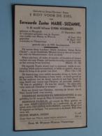 DP E. Zuster MARIE-SUZANNE ( Elvina Hoornaert ) Hooglede 22 Sept 1890 - Vlamertinge 8 Juli 1951 ( Zie Foto's ) ! - Obituary Notices