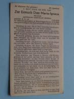 DP Z.E. Dame MARIE-IGNACE ( Gabrielle BEESAU ) Lo 7 Dec 1870 - Ieper 6 Okt 1952 ( Zie Foto's ) ! - Overlijden