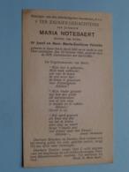 DP Maria NOTEBAERT ( Dochter V/ Verbeke ) Ieper 6 April 1892 - 25 Oct 1941 ( Zie Foto's ) ! - Obituary Notices