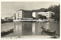 British North Borneo, SABAH JESSELTON, Partial View From The Water (1940s) RP - Malaysia