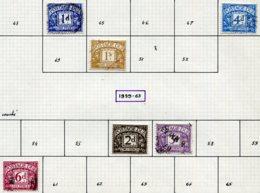 14695 GRANDE-BRETAGNE Collection Vendue Par Page Taxe  N°44, 48, 50, 56/7, 60 °  1955-59    B/TB - Portomarken