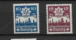 1937 MNH Danzig Michel 267-8 - Danzig