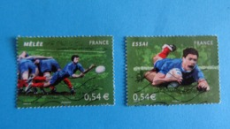 France 2007 RUGBY Yvert T 4063 - 4065 Oblitérés Cote 2,60 € - Used Stamps