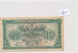 Numismatique -B3706 -TIEN FRANK 1943 Belgique  ( Catégorie,  Nature état ... Scans)-Envoi Gratuit - [ 3] Duitse Bezetting Van België