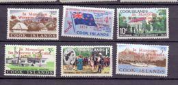 1966 Cook Islands - 1 Year Of Sir W. Churchill Death - Overprint Set MNH** (bsh) MiNr. 109 - 114 Flags, Queen, Ships - Kokosinseln (Keeling Islands)