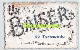 CPA DENDERMONDE UN BAISER DE TERMONDE ( PLOOITJE HOEK - PLI D'ANGLE ) - Dendermonde