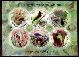 2012 Bangladesh - Nests Of Bangladesh Birds - MS Imperforated MNH** MI B 49 B (rg) Parrots, Woodpeckes, Swallows - Bangladesch