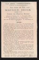 GEVALLEN SLACHTOFFER OORLOG TE KOKSIJDE 1944 - MAURICE BROCK  ZARREN 1925 - Obituary Notices