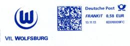 Freistempel 8204 VFL Wolfsburg Fußball - Marcofilia - EMA ( Maquina De Huellas A Franquear)