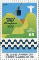 Lote CU2016-1, Cuba, 2016, Sello, Stamp, Upaep, Rio, 4 V, Golf, Rugby, Sport, Olympics - Cuba