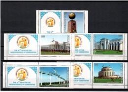 Uzbekistan 2006.Independence-15 (Architecture). 5v. Michel # 662-66 - Ouzbékistan