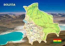 Bolivia Country Map New Postcard Bolivien Landkarte AK - Bolivien