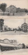 3 CPA:VILLIERS SUR MARNE (94) CASINO DES FAMILLES PLACE DE LA GARE,ÉCOLES,FEMME PETITE FILLE PLACE DE LA GARE - Villiers Sur Marne