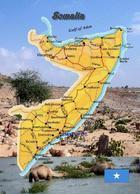 Somalia Country Map New Postcard Landkarte AK - Somalia