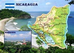 Nicaragua Country Map New Postcard Landkarte AK - Nicaragua