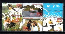 Nederland 2001 Nvph Nr 1952 - 1956, Mi Nr 1856 - 1860, Hart Voor De Natuur, Vogel, Bird, Vos, Fox - Periodo 1980 - ... (Beatrix)