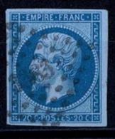 France Napoléon III 1860 - YT N°14B - Oblitéré - 1853-1860 Napoleon III