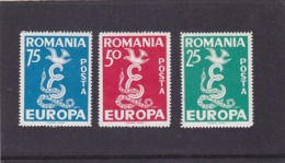 EUROPA CEPT, FREE ROMANIA, EXILE IN SPAIN, FULL SETS PERFORATED,MNH, 1958, ROMANIA - Europa-CEPT