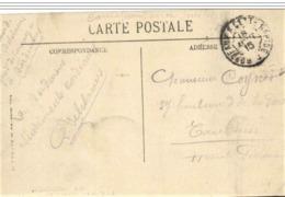 Rare Cachet Ambulant Bordeaux Cette Rapide 1915 En FM Indice=8 Cp Bordeaux - Poststempel (Briefe)