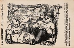"""La Guerre - Carte Caricaturale """"Rêve De Goinfres"""" - Oorlog 1914-18"""