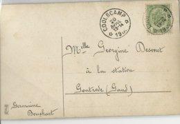 N°88 Dépot-relais Coolscamp 20 Avril  13-14 1908 S/CP V. Controde . TB - Marcophilie