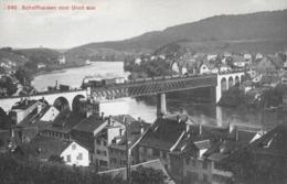 SCHAFFHAUSEN → Rheinbrücke Mit Güter-Dampfzug Vom Munot Aus Gesehen, Ca.1910 - SH Schaffhausen