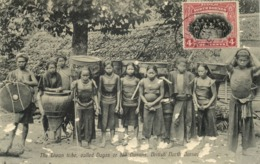 British North Borneo, SABAH, Liwan Tribe Natives, Dagas Or Hill Dusuns (1910s) - Malaysia