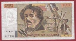 """100 Francs """"Delacroix"""" 1979 ---F/TTB+--ALPH V.15 - 100 F 1978-1995 ''Delacroix''"""