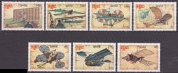 Série De 7 TP Neufs ** N° 744/750(Yvert) Kampuchea 1987 - Rétrospective De L'aviation, Machines Volantes - Kampuchea