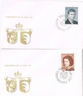 33911. Dos Cartas F.D.C. VADUZ (Liechtenstein) 1967. Principes - FDC