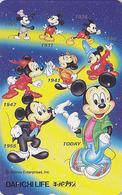 Télécarte Japon / 110-178804 - DISNEY - MICKEY Evolution à Travers Le Temps 2 - Japan Phonecard Telefonkarte Assu - Disney
