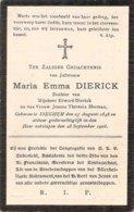 DP. MARIA DIERICK ° ISEGHEM 1848 - + 1906 - Religion & Esotérisme